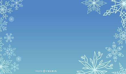 Blue Snowy Template Xmas Layout