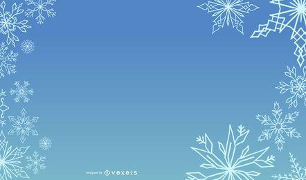 Layout de Natal azul modelo nevado