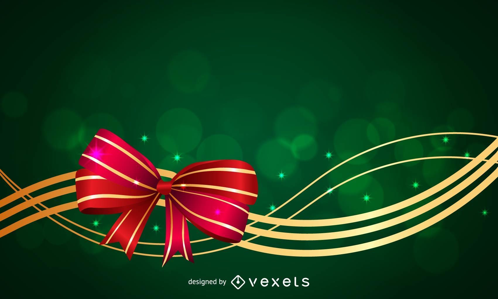 Cinta de Navidad con estrellas y remolinos