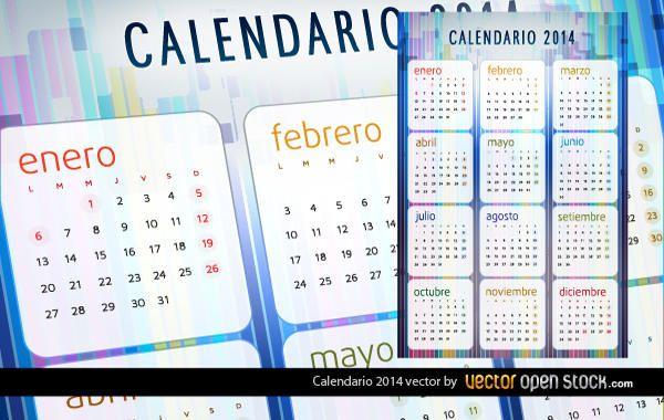 Calendario 2014 en espa�ol