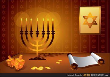 Diseño de Hanukkah