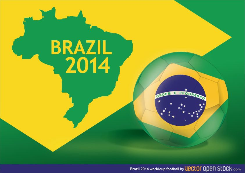 Brazil 2014 Worldcup football