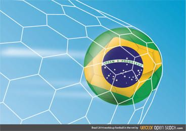 Brasilien 2014 Worldcup-Fußball im Netz