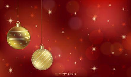 Ilustração brilhante de enfeites de Natal