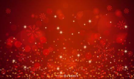 Fondo brillante con luces de Navidad