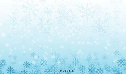 Paquete de fondo borroso de Navidad nevado