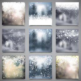Verschwommenes Snowy Xmas Backdrop Pack