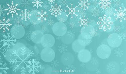 Diseño de fondo de Navidad borroso y nevado