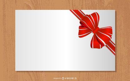 Cinta de regalo detallada atada a un papel