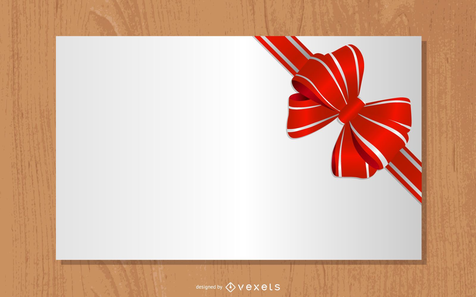 Detailed Gift Ribbon Tied on a Paper
