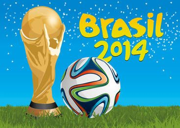 Trofeo Brasil 2014 y fútbol.