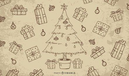Design de natal vintage sujo