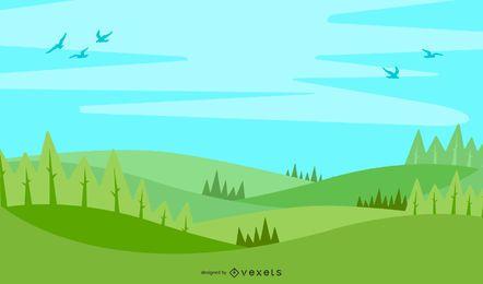 Eco-Hintergrund mit Lorbeerkranz 2014