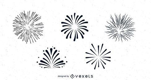 Sauberes und glattes Feuerwerkspaket