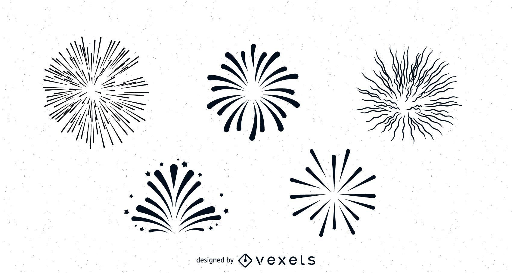 Pacote de fogo de artifício limpo e suave