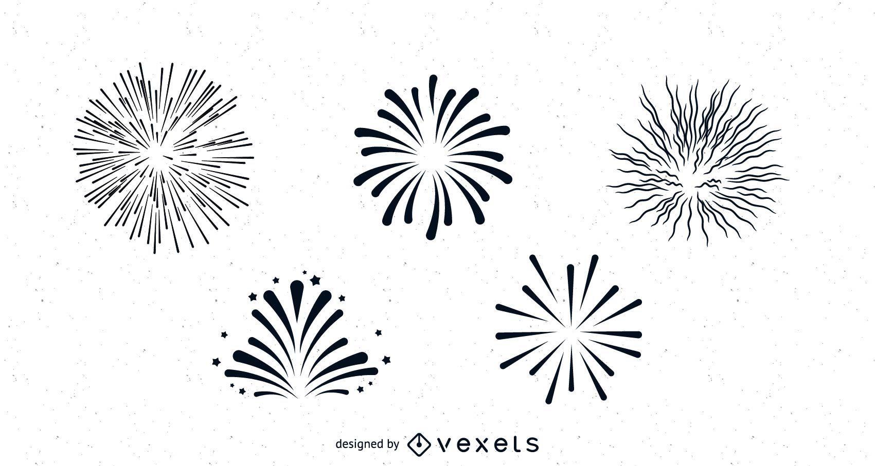 Paquete de fuegos artificiales limpio y suave