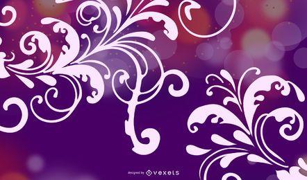 Cartel 2014 con flores y luces