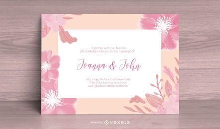 Cartão de modelo de florescer