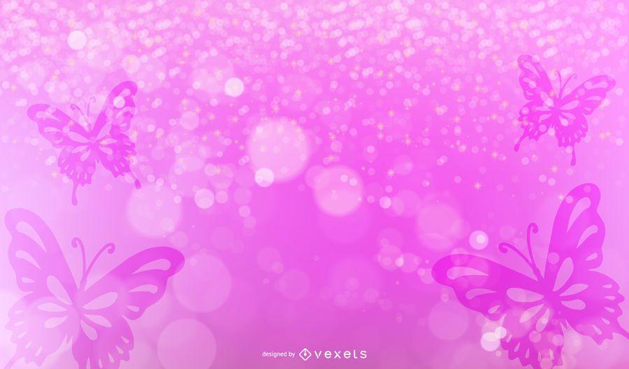 Resumen de fondo espumoso con mariposa
