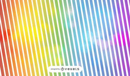 Gestreifter Regenbogen-Hintergrund mit Blasen