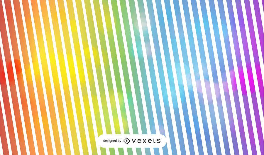 Fondo de rayas de arco iris con burbujas