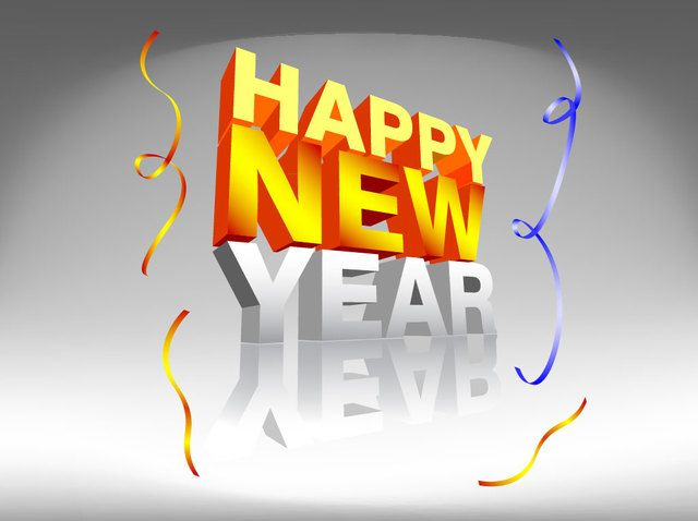 3D New Year Design Typography Template