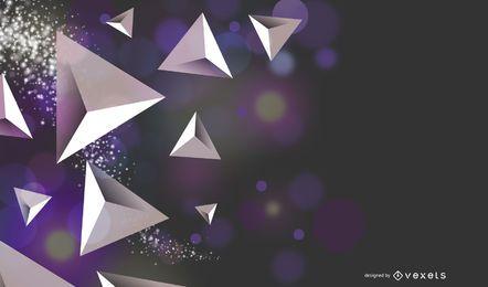 Fondo dinámico de triángulos cristalizados