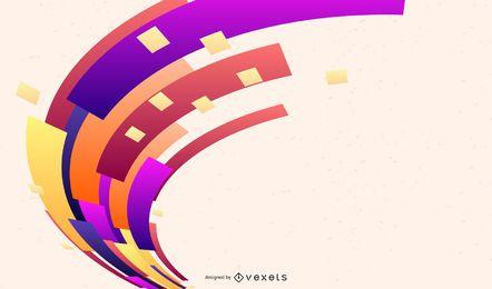 Formas coloridas abstractas deformadas creativas