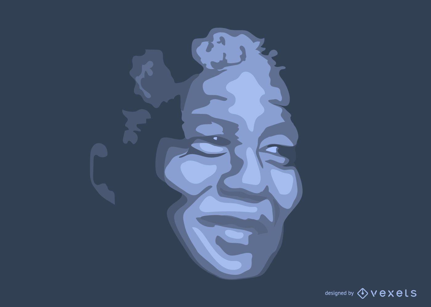 Tributo a Nelson Mandela esbo?ado