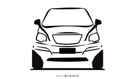 Coche Juke Nissan en blanco y negro