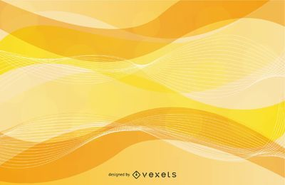 Wavy Spiral Line Yellow Background