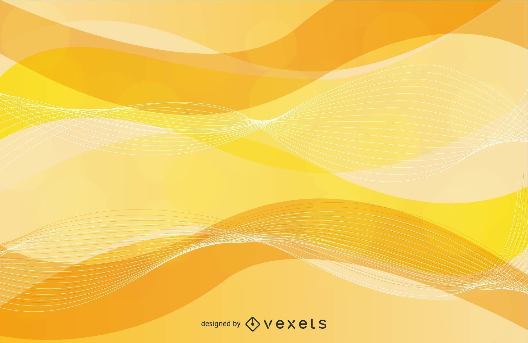 Wavy Spiral Line Yellow Background