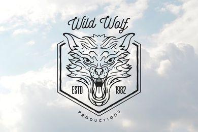 Rasender Wolfskopf umreißen