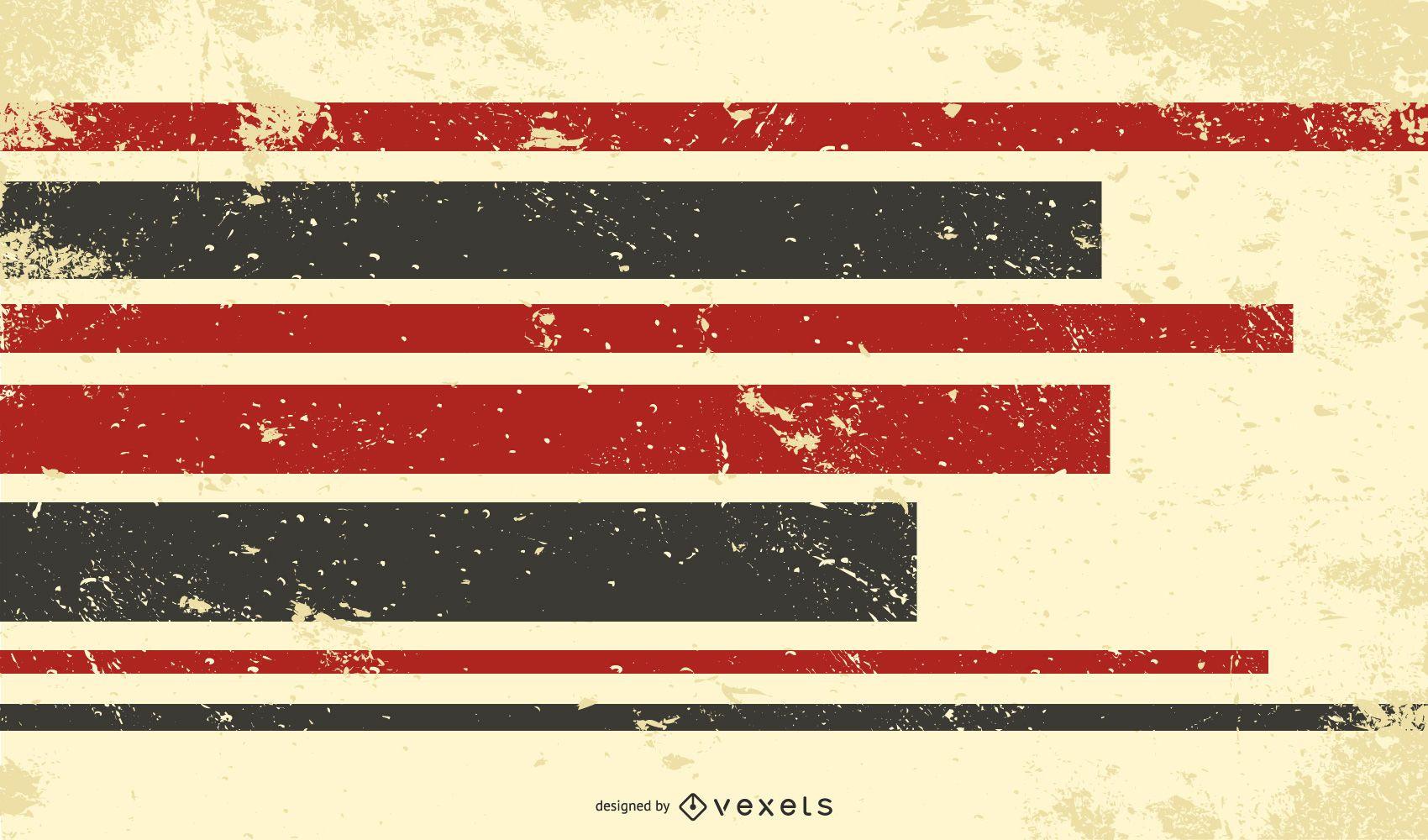 Grungy Retro 3D Stripy Background