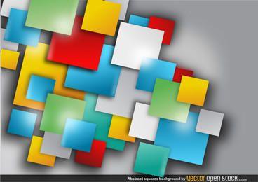 Fundo abstrato quadrados