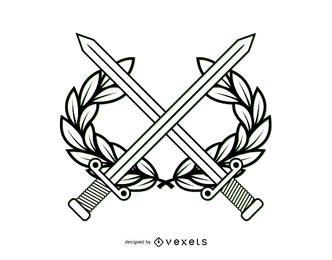Line Art Military Wappen