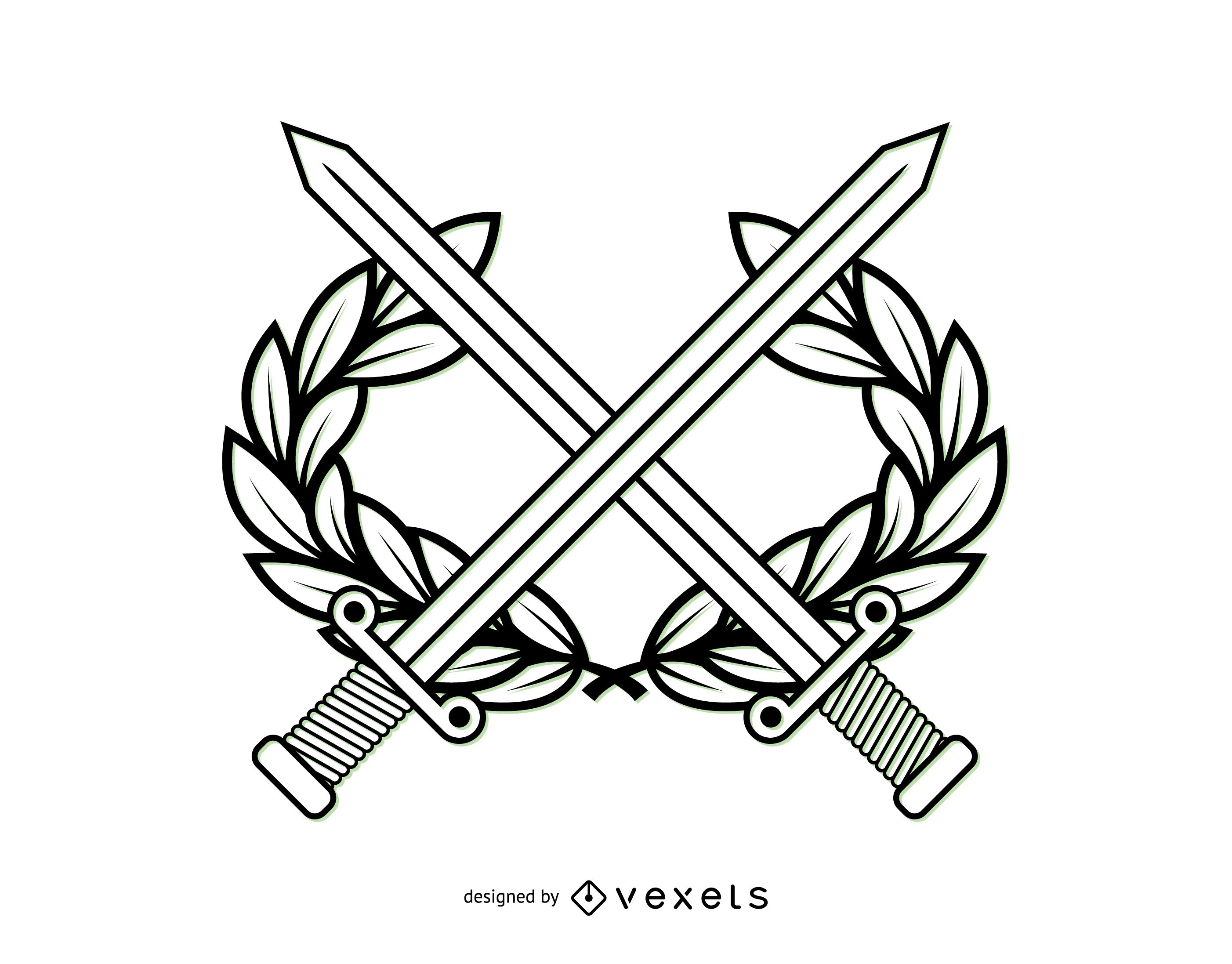 Line Art Military Coat of Arms