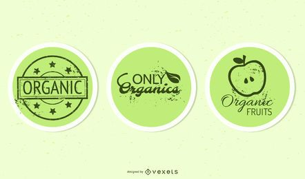 Pack de adesivo de produto elíptico orgânico