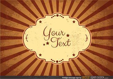 Sinal de mensagem vintage