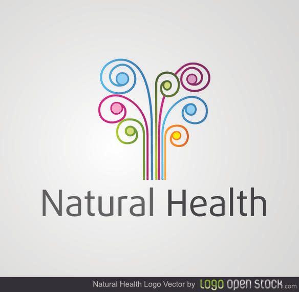 Remolinos coloridos de la salud natural