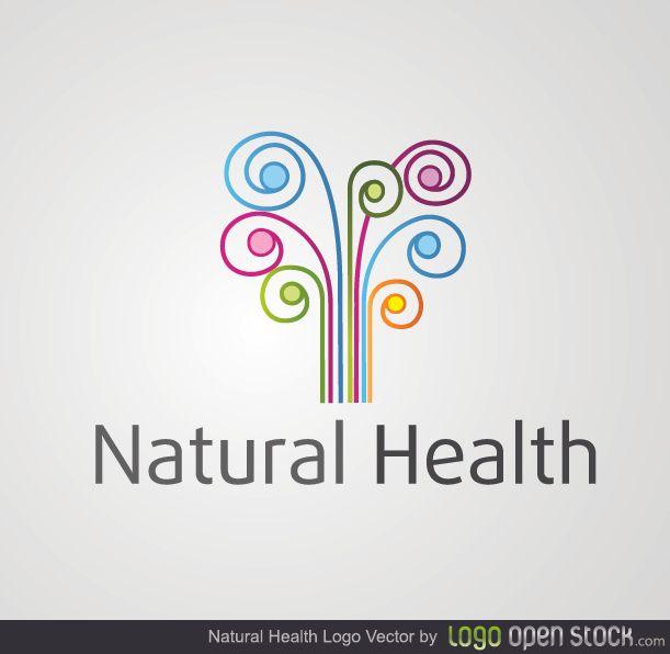 Remolinos de colores de salud natural