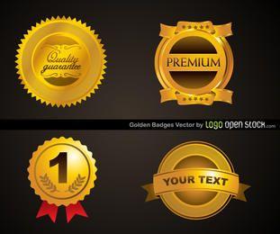 Modelo de quatro emblemas de ouro