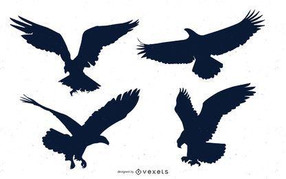 Conjunto de animais de natureza águia careca