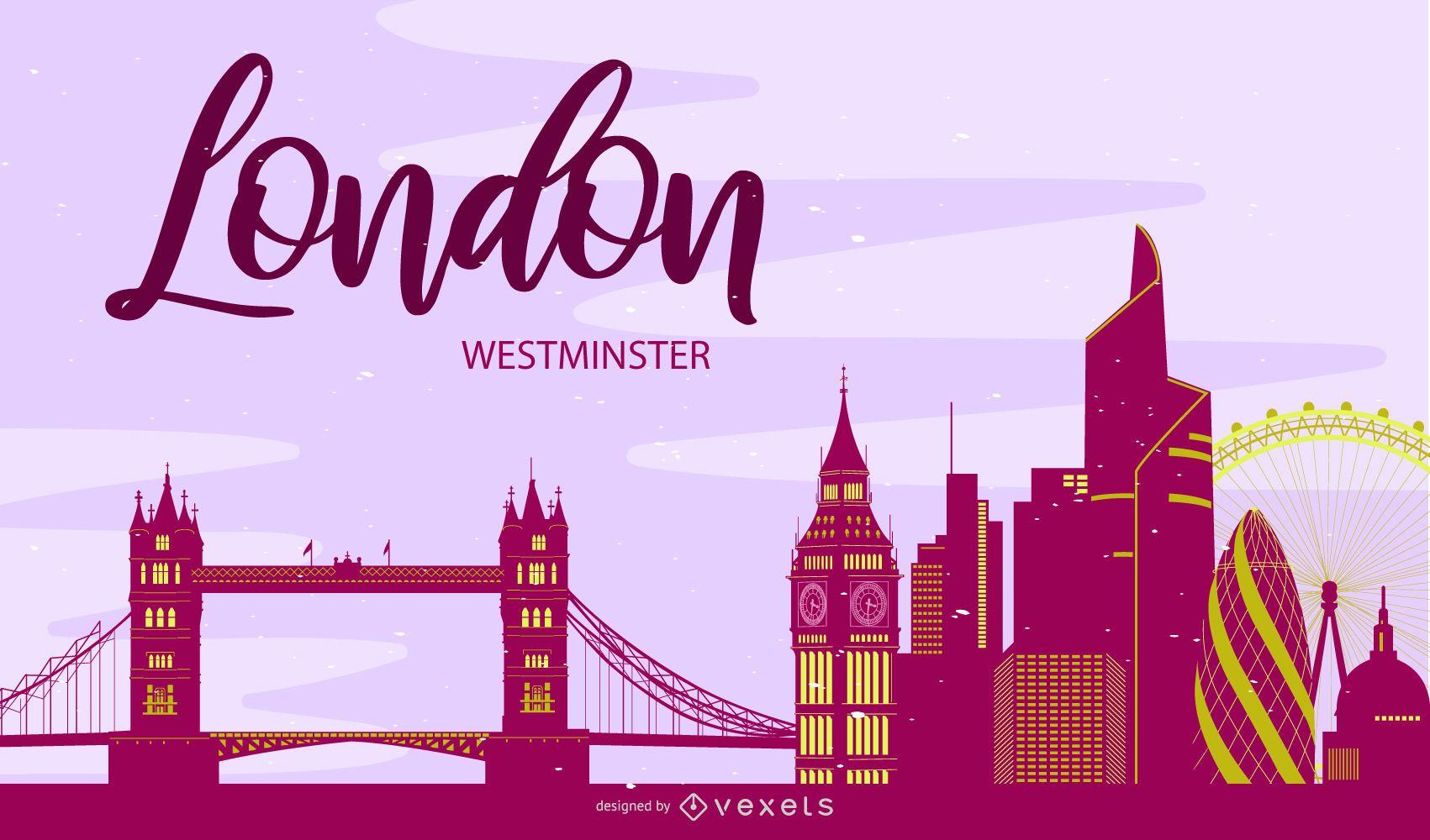 Westminster Skyline London Silhouette