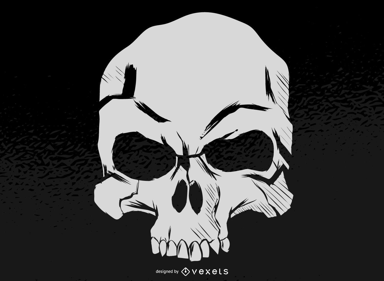 Cráneo malvado silueta