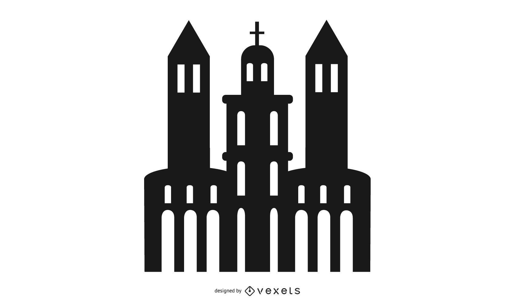 Silhouette Church Building