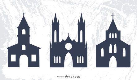 Schattenbild-Religions-Architekt der Kirchen