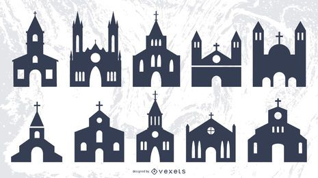 Silueta religión arquitecto de iglesias