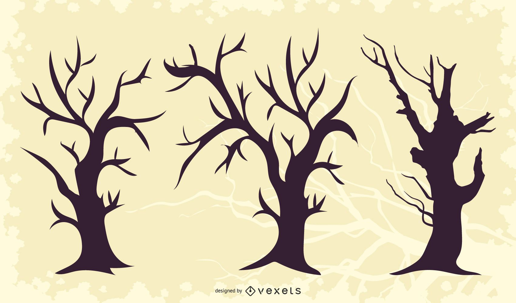 Dead Crooked Tree Pack Silhouette