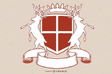 Escudo del escudo de armas de Heráldica